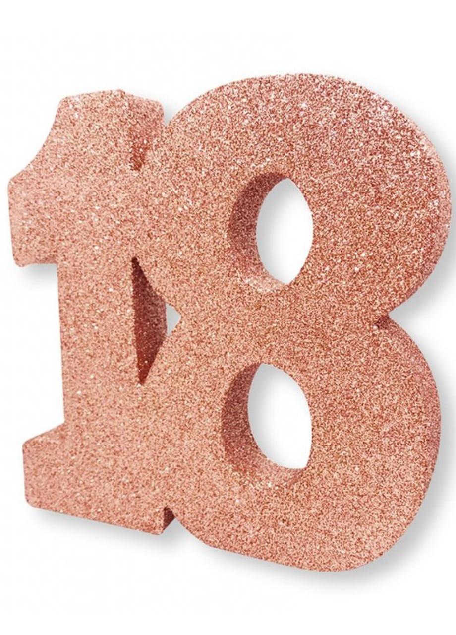 Dekoracja Stołu 18 Urodziny Glitter Różowe Złoto