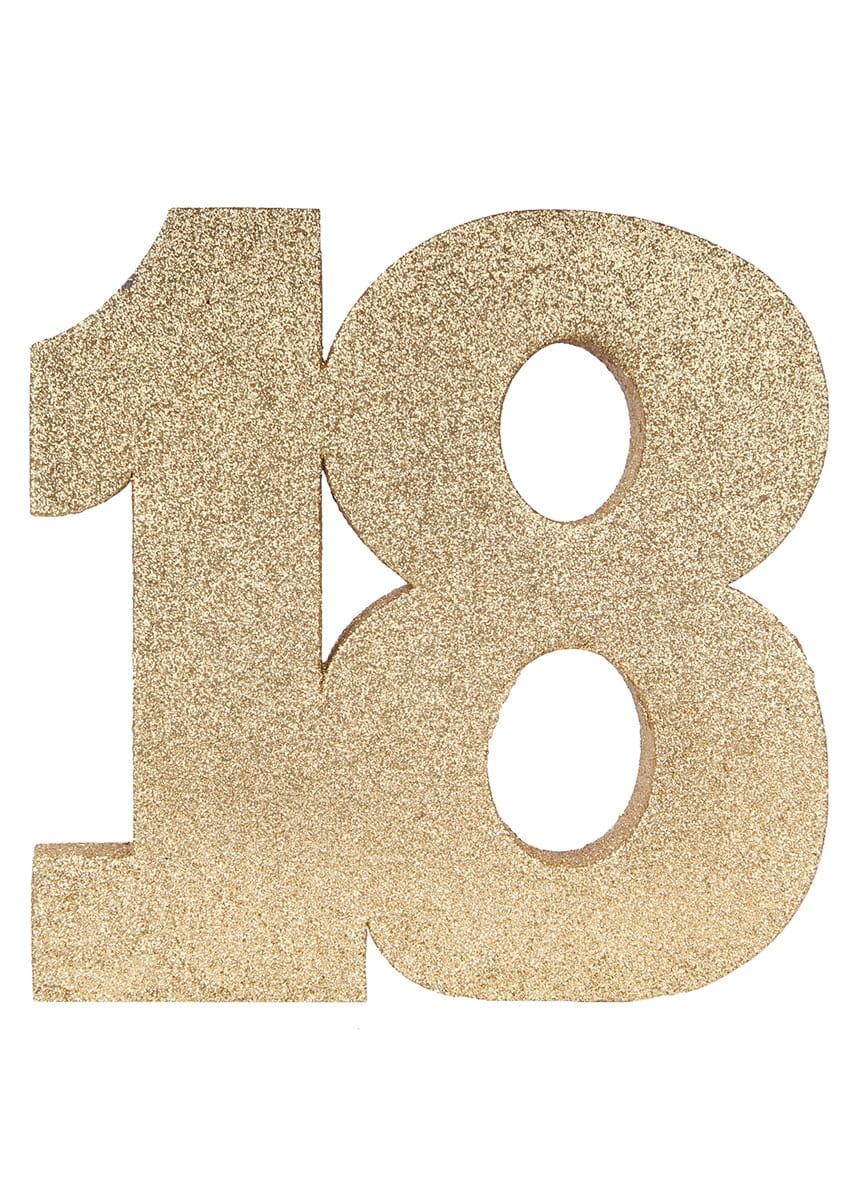 Dekoracja Stołu 18 Urodziny Glitter 20cm Dekoracje Papierowe I