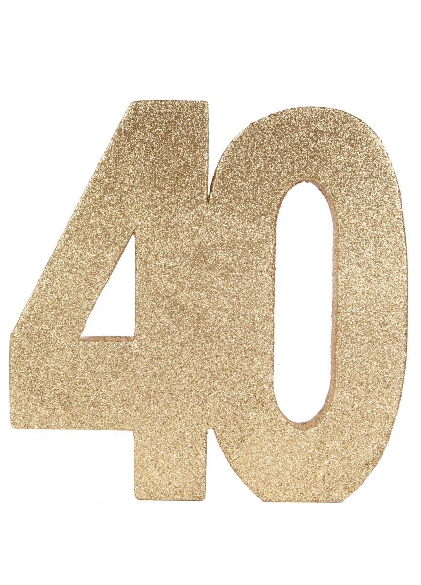 Dekoracja Stołu 40 Urodziny Glitter 20cm Dekoracje Na 40 Urodziny