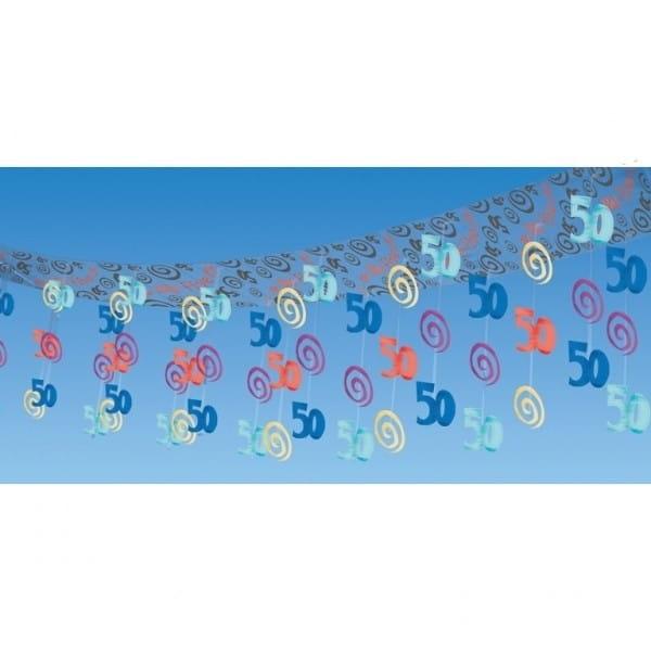 Dekoracja Sufitu 50 Urodziny Kolorowa Dekoracje Na 50 Urodziny