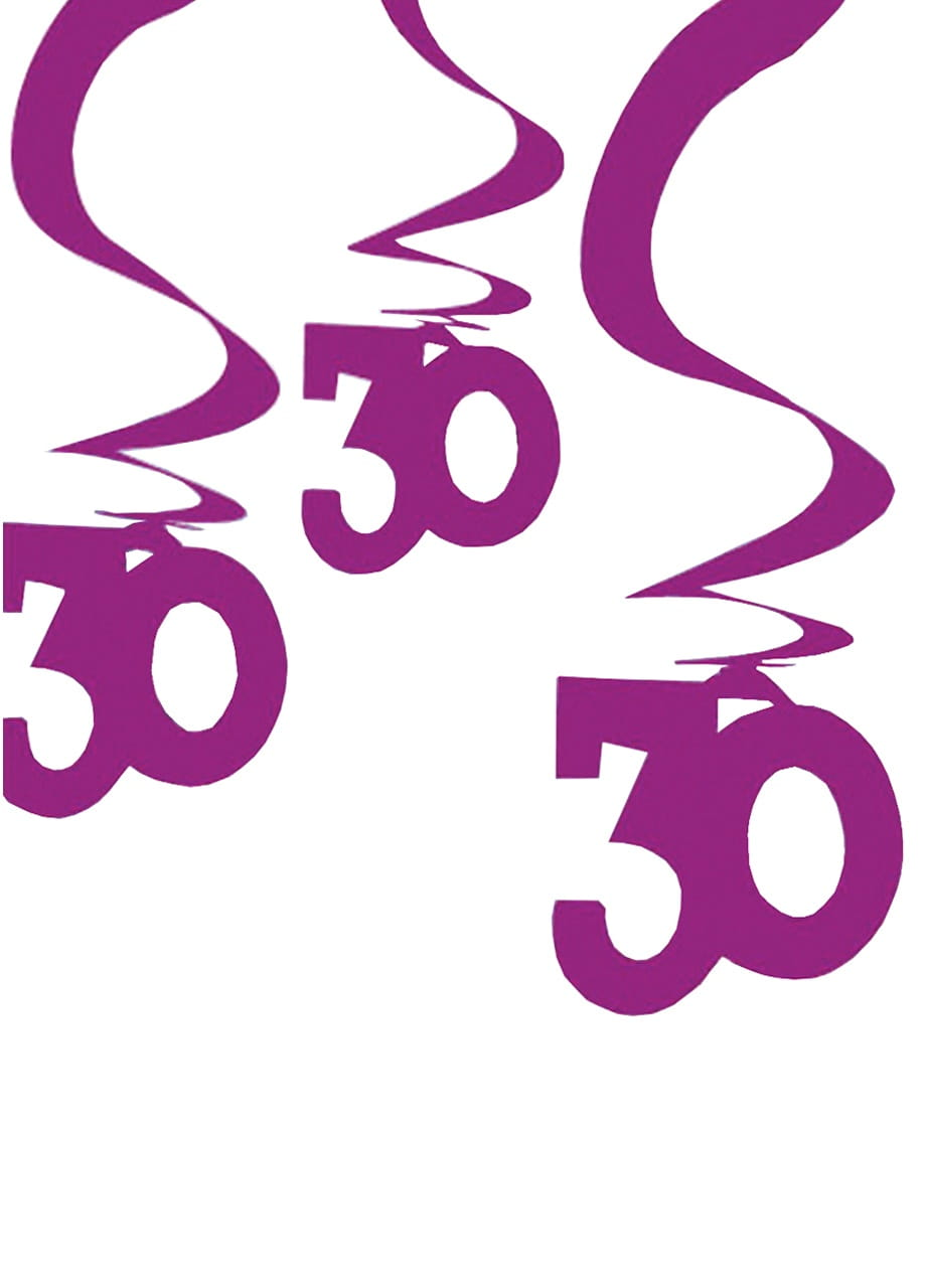 Dekoracja Wisząca 30 Urodziny Róż 5szt Dekoracje Na 30 Urodziny