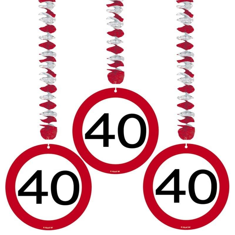 Dekoracja Wisząca Znak 40 Dekoracje Na 40 Urodziny
