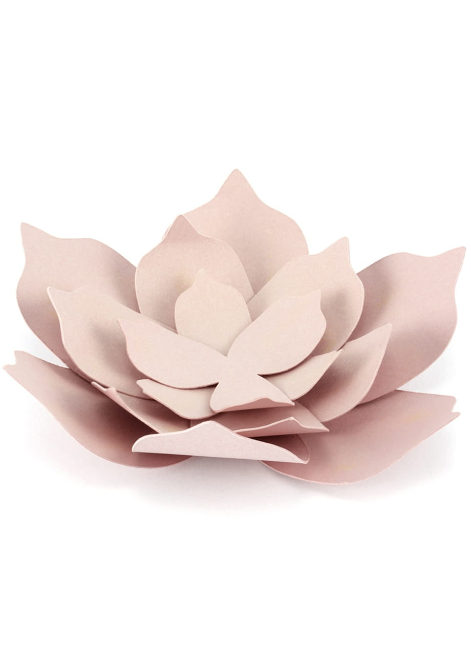 Dekoracje Papierowe Lilie 3szt Pudrowy Róż