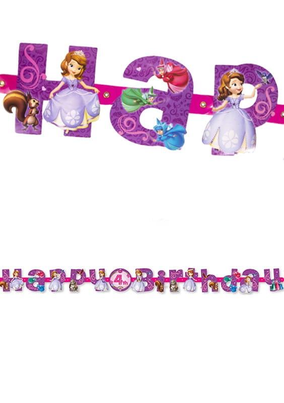 Girlanda Urodzinowa Jej Wysokość Zosia Girlandy Urodzinowe