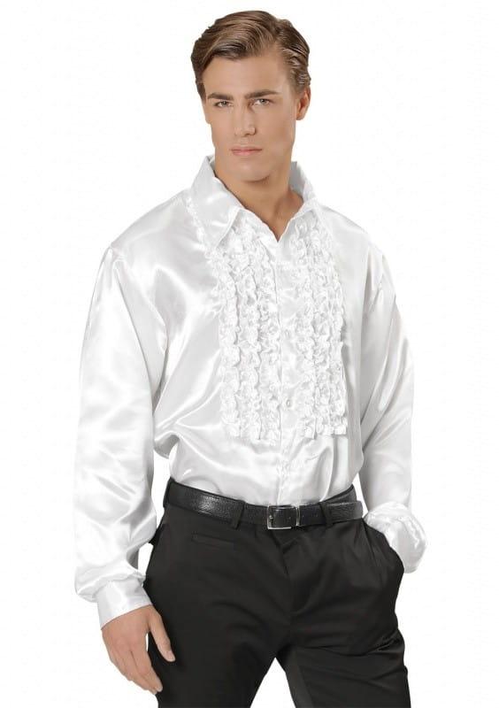 727c398b03ab Koszula DISCO z żabotem biała   Prince - sklep PartyBox.pl