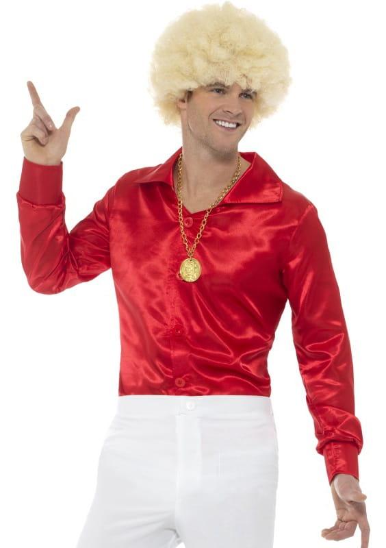 29b68bad54f455 Koszula męska czerwona LATA 60. / Elton John - sklep PartyBox.pl