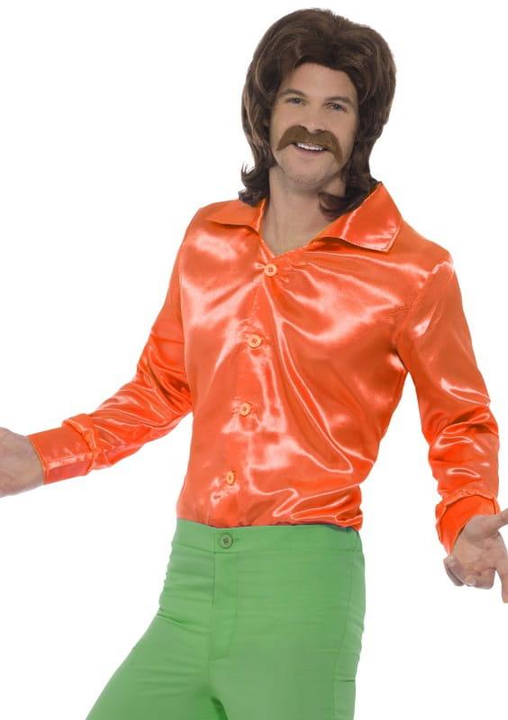 ffdcb62db91d3f Koszula męska pomarańczowa LATA 60. / Stroje fashion disco dla mężczyzn