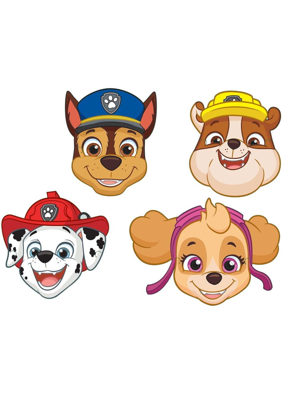 Maski Psi Patrol Party 8szt