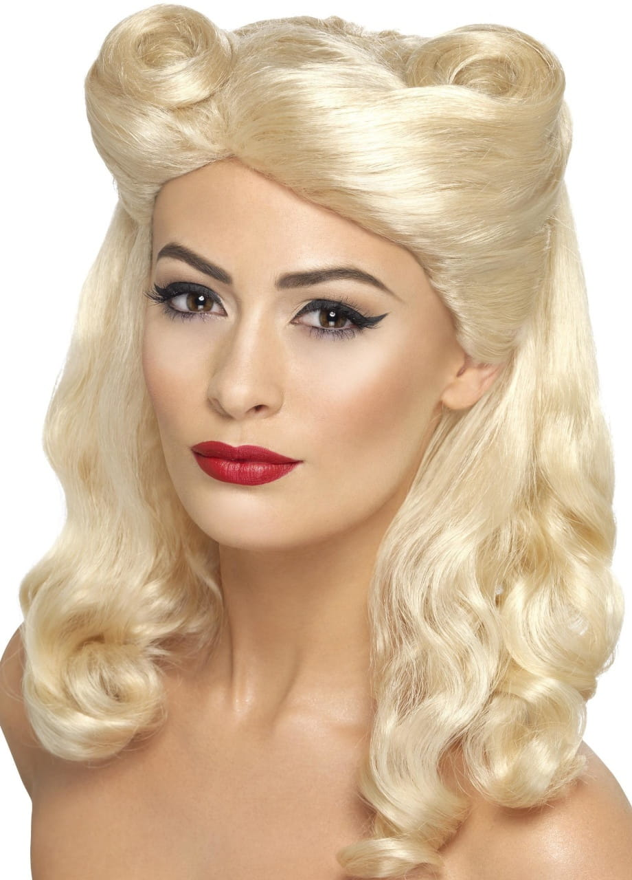 Peruka PIN UP lata 40. blond