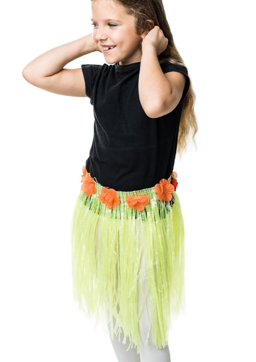Spódnica hawajska dziecięca zielona