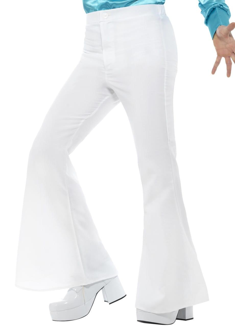16fe1638 Spodnie męskie dzwony białe