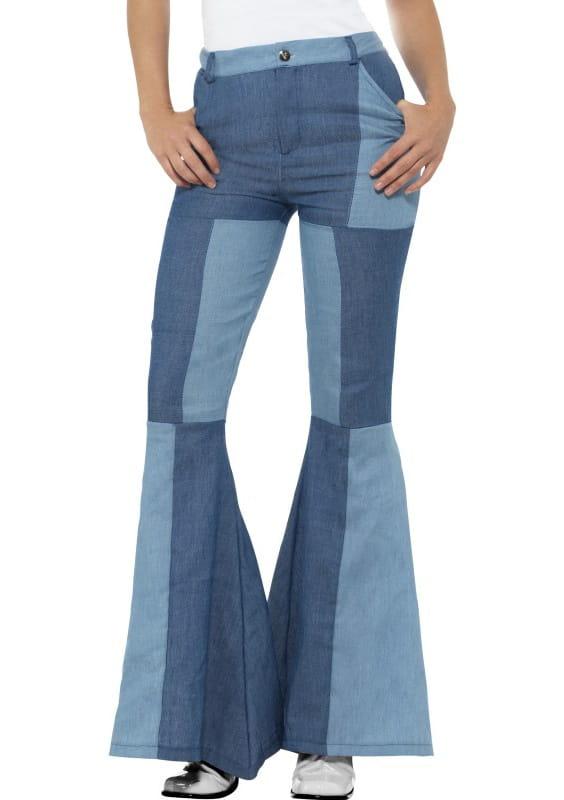4316600a Spodnie dzwony damskie jeans