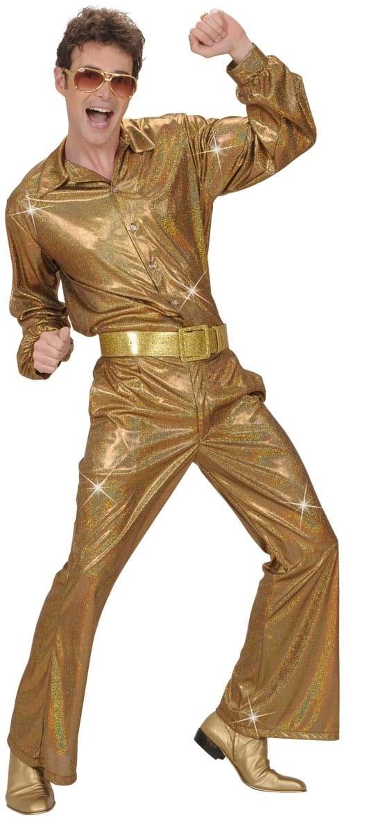 b212835b Spodnie DZWONY złote - M/L