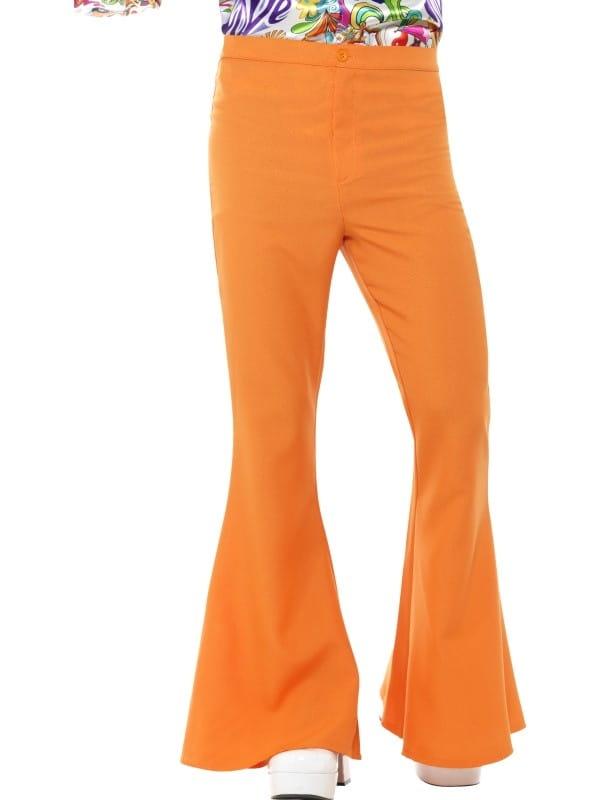 e35da110 Spodnie męskie dzwony pomarańczowe