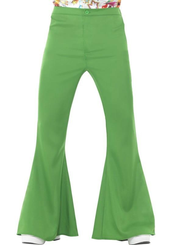 f5ea0243 Spodnie męskie dzwony zielone