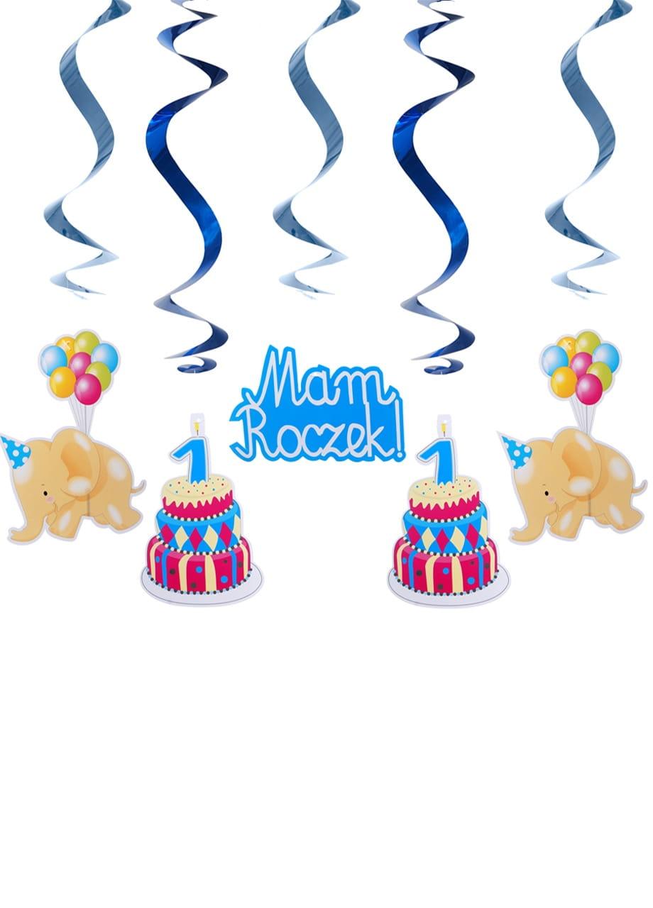 86316f1fffe32e Świderki urodzinowe MAM ROCZEK niebieskie (5szt) / Dekoracje na roczek