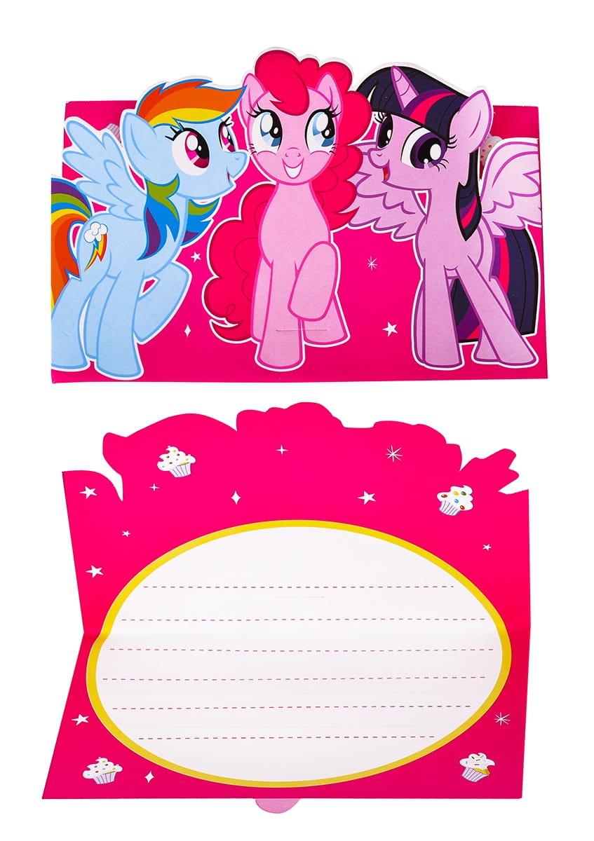 Zaproszenia My Little Pony 8szt Kolekcja My Little Pony