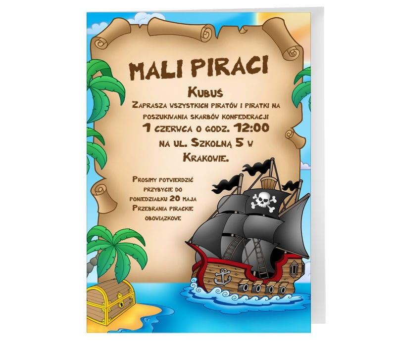 Zaproszenia Personalizowane Piraci Zaproszenia Dla Dzieci