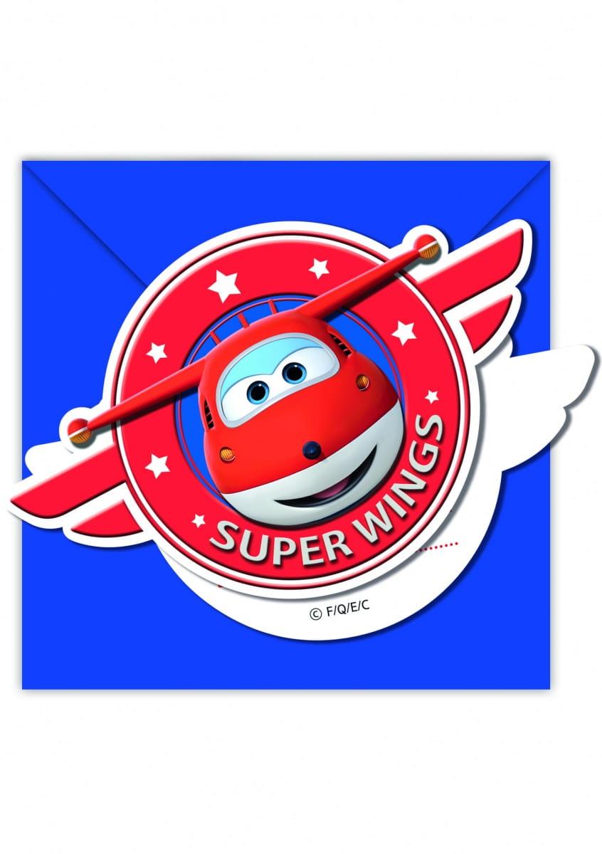 Zaproszenia Super Wings 6szt Kolekcja Super Wings