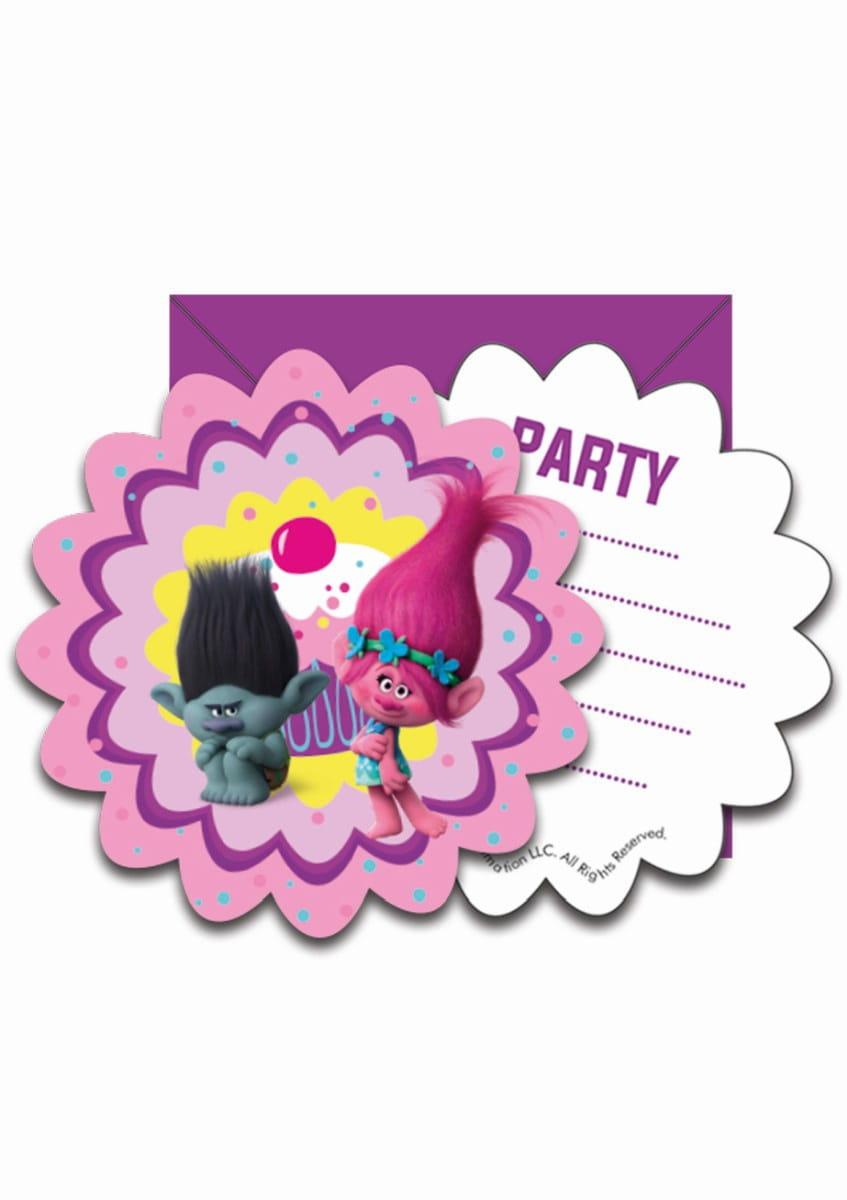 Zaproszenia Trolle 6szt Kolekcja Trolle Sklep Partyboxpl