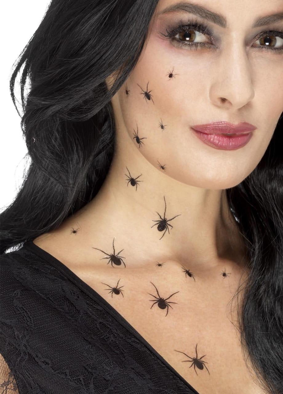 Tatuaże Zmywalne Na Halloween Pająki