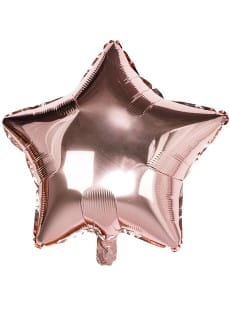 Balon GWIAZDKA rose gold 40cm