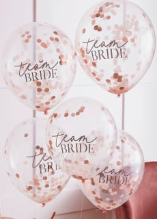 Balony konfetti BRIDE TEAM (5szt.)