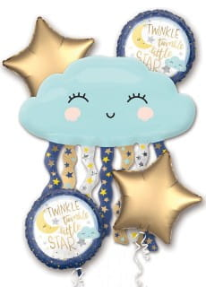 Balony foliowe TWINKLE LITTLE STAR (5szt.)