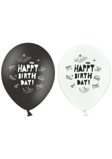 Balony HAPPY BIRTHDAY (6szt.)