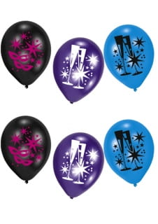 Balony HAPPY NEW YEAR (6szt.)