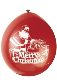 Balony MERRY CHRISTMAS (10szt.)