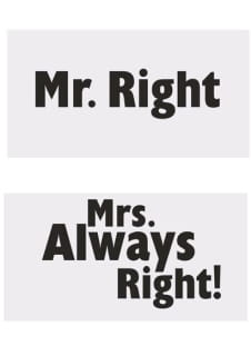 Gadżety do fotobudki MR.RIGHT/MRS. ALWAYS RIGHT