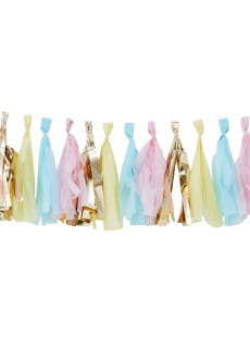 Girlanda frędzle PICK & MIX pastel & gold