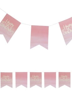 Girlanda flagi OMBRE Happy Birthday