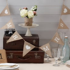 Girlanda Mr & Mrs VINTAGE AFFAIR (1.5m)