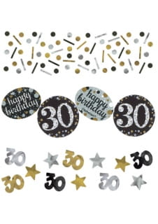 Konfetti 30 HAPPY BIRTHDAY Sparkling