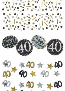 Konfetti 40 HAPPY BIRTHDAY Sparkling