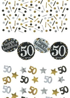 Konfetti 50 HAPPY BIRTHDAY Sparkling