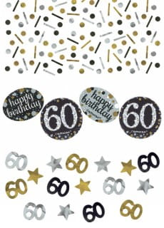 Konfetti 60 HAPPY BIRTHDAY Sparkling