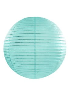 Lampion papierowy TIFFANY BLUE (35cm)
