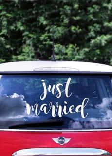 442e5d530f2452 Ślubny zestaw do dekoracji samochodu / Dekoracje ślubne samochodu