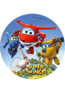 Opłatek na tort SUPER WINGS 21cm