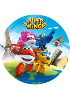 Opłatek na tort SUPER WINGS transformacja 21cm