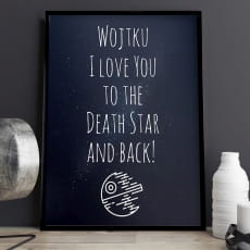 Plakat personalizowany 31x41 cm TO THE DEATH STAR