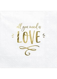 Serwetki ALL YOU NEED IS LOVE 33cm (20szt.)