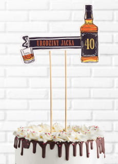Personalizowany topper na tort dla faceta JACK whisky
