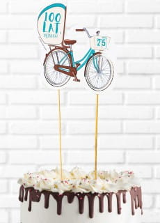 Topper personalizowany na tort ROWER
