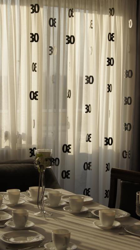 Dekoracja Wisząca 30 Urodziny Glitz Czarna 6szt Dekoracje Na 30